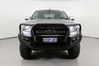 2015 Ford Ranger PX MkII XLT 3.2 (4x4) Silver 6 Speed Automatic Double Cab Pick Up.