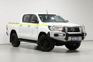 2017 Toyota Hilux GUN136R MY17 SR Hi-Rider White 6 Speed Automatic Dual Cab Utility.