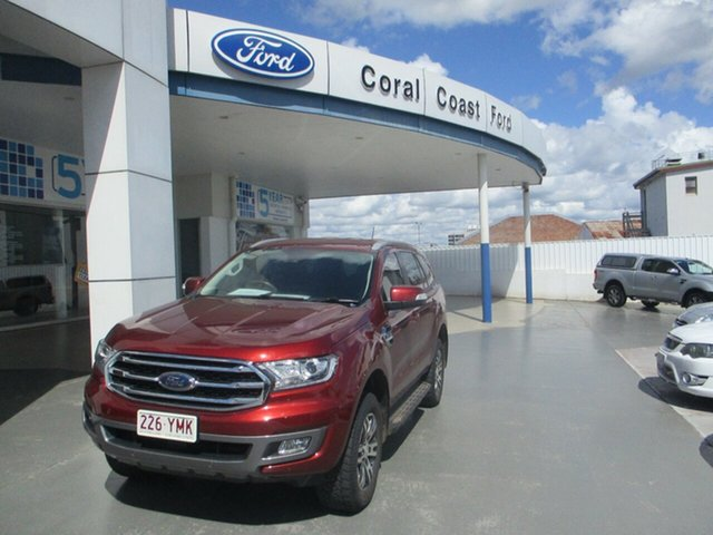 Used Ford Everest UA MY18 Trend (4WD) (5 Yr) Bundaberg, 2018 Ford Everest UA MY18 Trend (4WD) (5 Yr) Sunset Red 6 Speed Automatic SUV