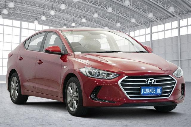 Used Hyundai Elantra AD MY17 Active Victoria Park, 2016 Hyundai Elantra AD MY17 Active Red 6 Speed Sports Automatic Sedan