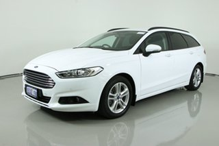 2015 Ford Mondeo MD Ambiente TDCi White 6 Speed Automatic Wagon.