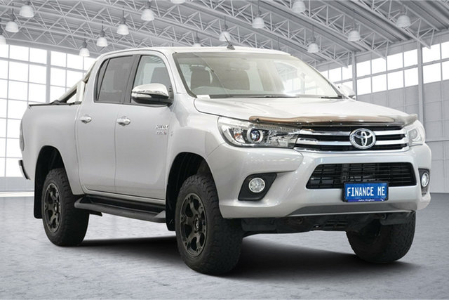Used Toyota Hilux GUN126R SR5 Double Cab Victoria Park, 2016 Toyota Hilux GUN126R SR5 Double Cab Silver 6 Speed Sports Automatic Utility