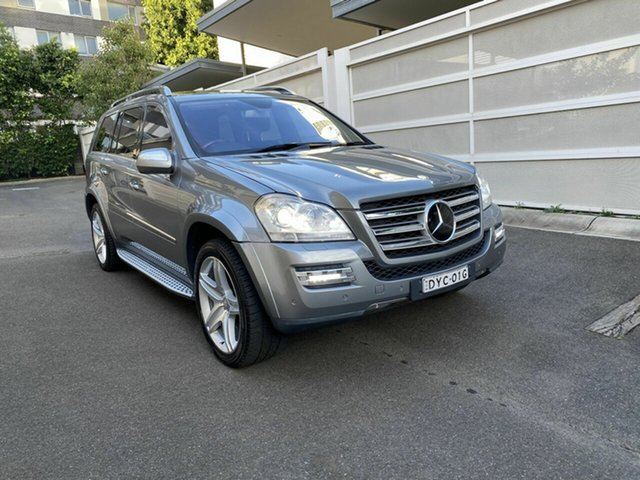 Used Mercedes-Benz GL-Class X164 MY10 GL500 Zetland, 2009 Mercedes-Benz GL-Class X164 MY10 GL500 Silver 7 Speed Sports Automatic Wagon