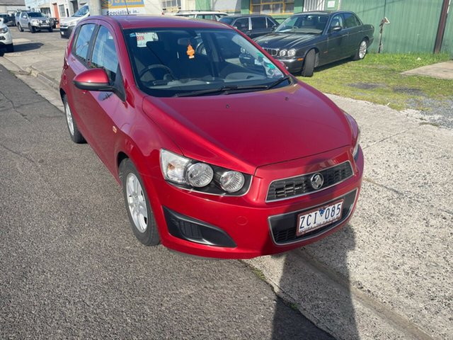Used Holden Barina TM MY13 CD Moorabbin, 2012 Holden Barina TM MY13 CD Red 6 Speed Automatic Hatchback