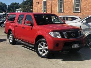 2012 Nissan Navara D40 S6 MY12 ST Red 6 Speed Manual Utility.