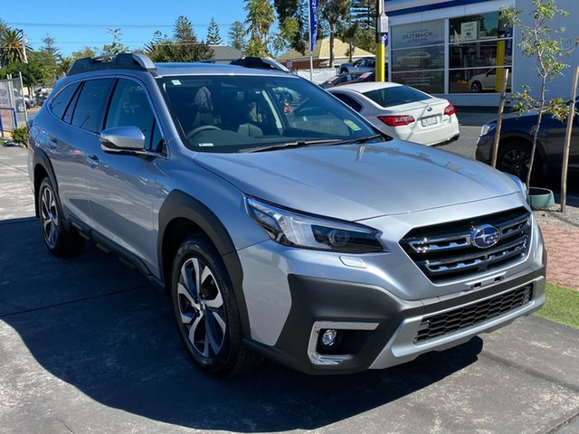 New Subaru Outback B7A MY21 AWD Touring CVT Glenelg, 2021 Subaru Outback B7A MY21 AWD Touring CVT Ice Silver 8 Speed Constant Variable Wagon