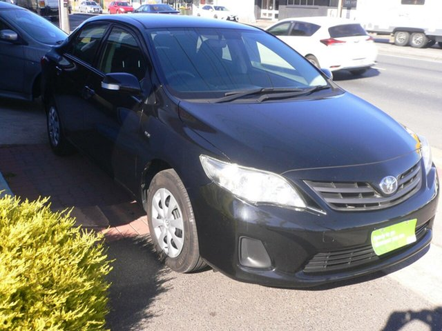 Used Toyota Corolla ZRE152R MY11 Ascent St Marys, 2011 Toyota Corolla ZRE152R MY11 Ascent Black 4 Speed Automatic Sedan