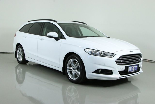Used Ford Mondeo MD Ambiente TDCi Bentley, 2015 Ford Mondeo MD Ambiente TDCi White 6 Speed Automatic Wagon