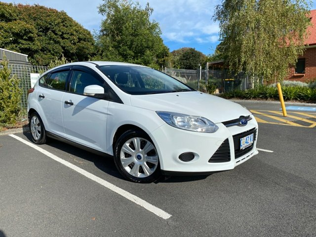 Used Ford Focus LW Ambiente PwrShift Glenorchy, 2012 Ford Focus LW Ambiente PwrShift White 6 Speed Sports Automatic Dual Clutch Hatchback
