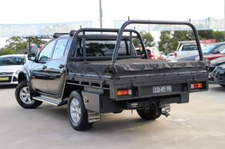 2015 Mitsubishi Triton MQ MY16 GLX Double Cab 4x2 Black 6 Speed Manual Utility.