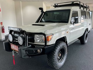 2014 Toyota Landcruiser VDJ78R MY13 Workmate Troopcarrier White 5 Speed Manual Wagon