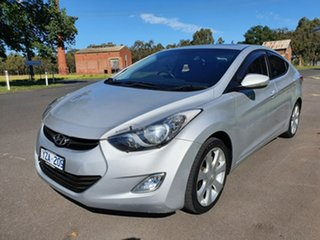 2012 Hyundai Elantra MD Premium Silver 6 Speed Sports Automatic Sedan.