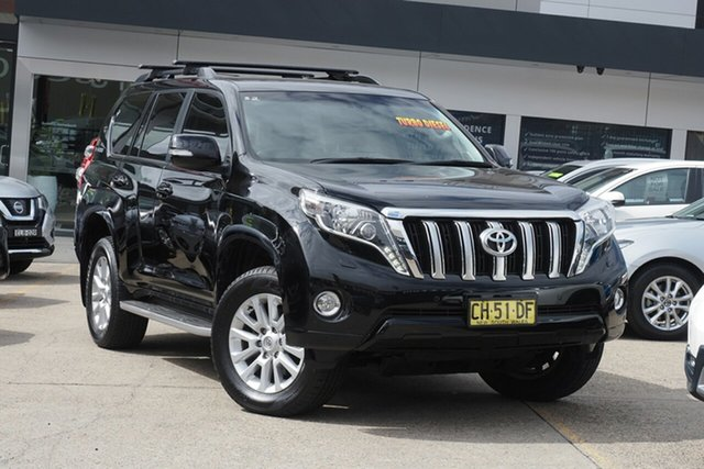 Used Toyota Landcruiser Prado GDJ150R VX Homebush, 2016 Toyota Landcruiser Prado GDJ150R VX Black 6 Speed Sports Automatic Wagon