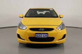 2017 Hyundai Accent RB5 Sport Yellow 6 Speed Automatic Sedan.
