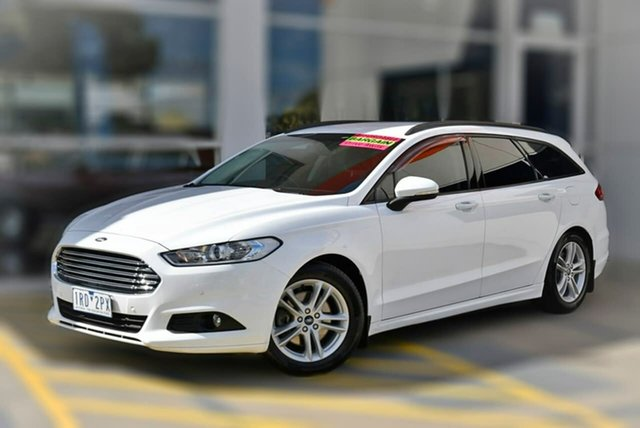 Used Ford Mondeo MD Ambiente Berwick, 2016 Ford Mondeo MD Ambiente White 6 Speed Sports Automatic Dual Clutch Wagon