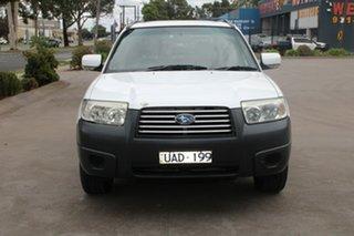 2005 Subaru Forester MY06 XS Luxury White 4 Speed Auto Elec Sportshift Wagon.