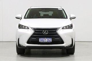 2016 Lexus NX200T AGZ10R Luxury (FWD) White 6 Speed Automatic Wagon.