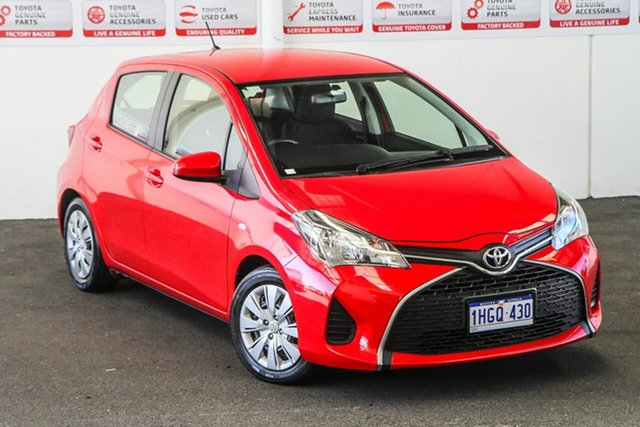 Pre-Owned Toyota Yaris NCP130R MY15 Ascent Rockingham, 2015 Toyota Yaris NCP130R MY15 Ascent Cherry 5 Speed Manual Hatchback