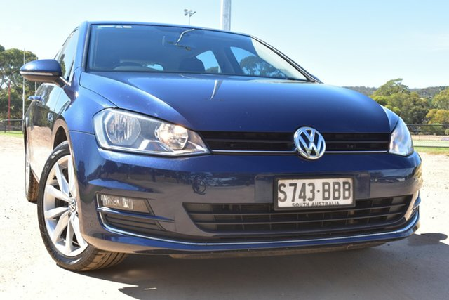 Used Volkswagen Golf VII 110TDI DSG Highline St Marys, 2013 Volkswagen Golf VII 110TDI DSG Highline Blue 6 Speed Sports Automatic Dual Clutch Hatchback