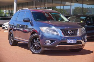 2014 Nissan Pathfinder R52 MY14 ST-L X-tronic 4WD Blue 1 Speed Constant Variable Wagon.