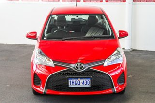 2015 Toyota Yaris NCP130R MY15 Ascent Cherry 5 Speed Manual Hatchback.