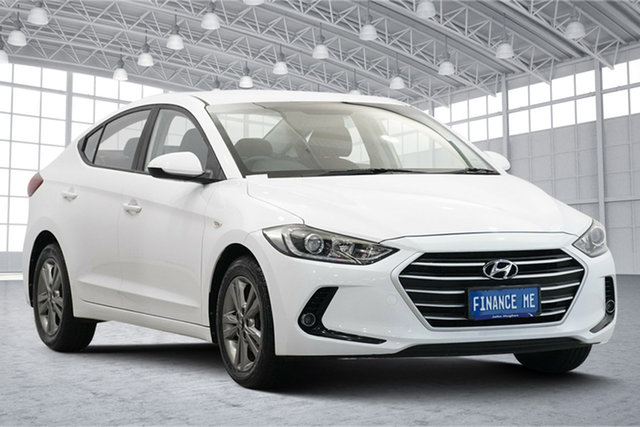 Used Hyundai Elantra AD MY17 Active Victoria Park, 2017 Hyundai Elantra AD MY17 Active White 6 Speed Sports Automatic Sedan