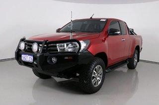 2015 Toyota Hilux GUN126R SR (4x4) Red 6 Speed Manual X Cab Utility.
