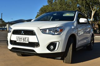 2014 Mitsubishi ASX XB MY15 XLS 2WD White 6 Speed Constant Variable Wagon.