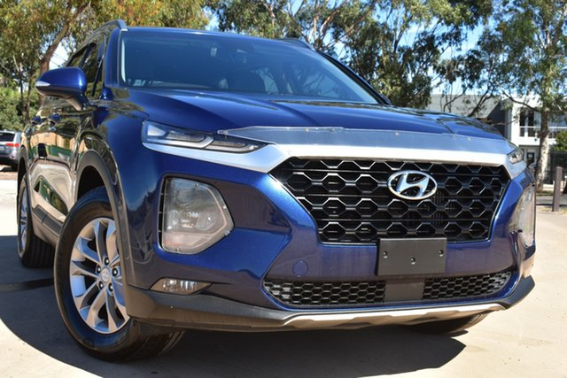 Used Hyundai Santa Fe TM MY19 Active St Marys, 2018 Hyundai Santa Fe TM MY19 Active Blue 8 Speed Sports Automatic Wagon