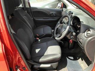 2012 Nissan Micra K13 MY13 ST Red 5 Speed Manual Hatchback