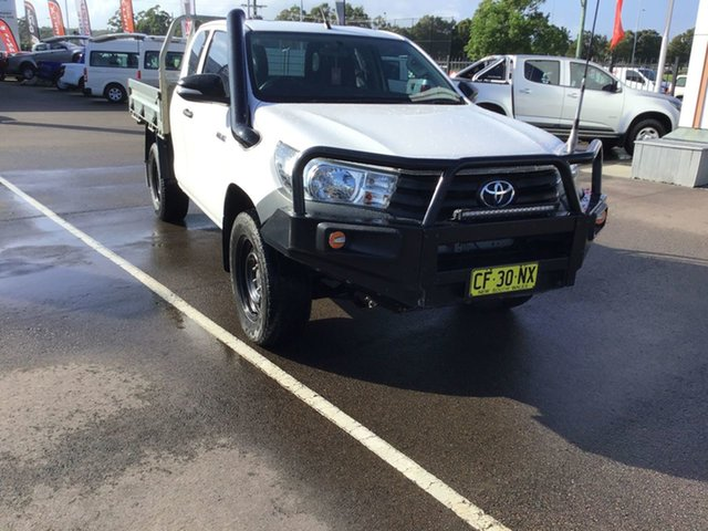 Used Toyota Hilux GUN125R Workmate Extra Cab Cardiff, 2015 Toyota Hilux GUN125R Workmate Extra Cab White 6 Speed Manual Cab Chassis