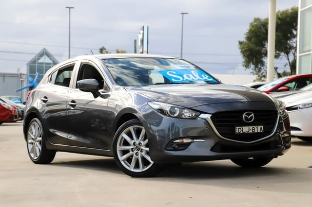 Used Mazda 3 BN5438 SP25 SKYACTIV-Drive Kirrawee, 2016 Mazda 3 BN5438 SP25 SKYACTIV-Drive Grey 6 Speed Sports Automatic Hatchback