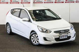2016 Hyundai Accent RB3 MY16 Active White 6 Speed CVT Auto Sequential Hatchback.