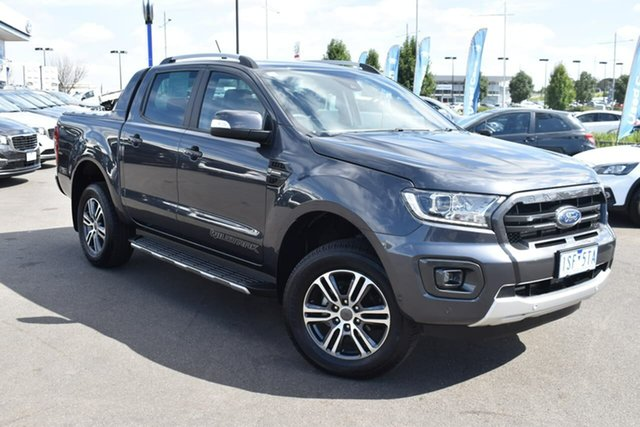Used Ford Ranger PX MkIII 2020.75MY Wildtrak Essendon Fields, 2020 Ford Ranger PX MkIII 2020.75MY Wildtrak Grey 10 Speed Sports Automatic Double Cab Pick Up