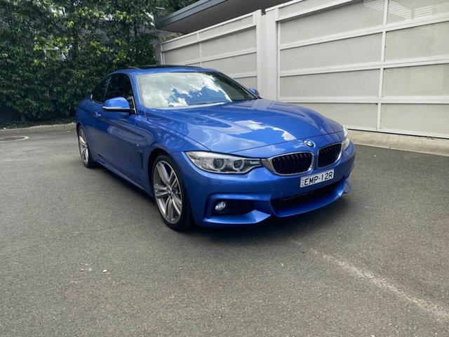Used BMW 4 Series F32 428i M Sport Zetland, 2016 BMW 4 Series F32 428i M Sport Blue 8 Speed Sports Automatic Coupe