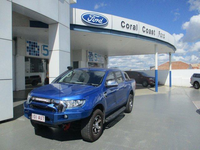 Used Ford Ranger PX MkII MY17 XLT 3.2 (4x4) Bundaberg, 2016 Ford Ranger PX MkII MY17 XLT 3.2 (4x4) Blue 6 Speed Automatic Double Cab Pick Up