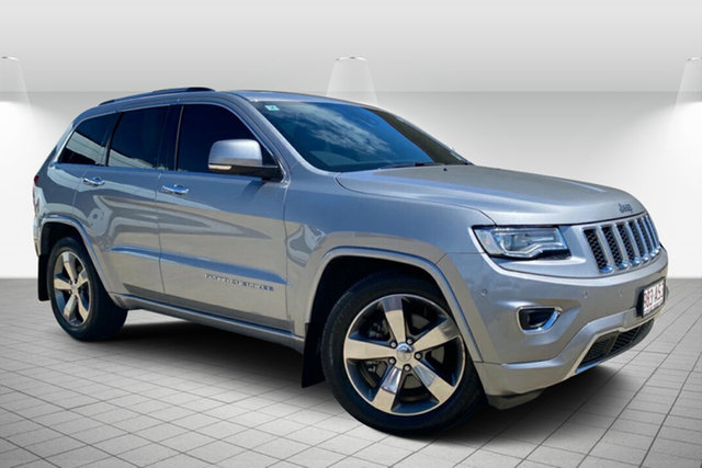 Used Jeep Grand Cherokee WK MY15 Overland Hervey Bay, 2015 Jeep Grand Cherokee WK MY15 Overland Silver 8 Speed Sports Automatic Wagon