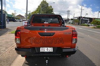 2018 Toyota Hilux GUN126R MY19 Rugged X (4x4) Orange 6 Speed Manual Double Cab Pick Up