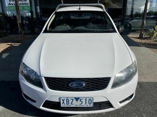 2009 Ford Falcon FG White 5 Speed Auto Seq Sportshift Cab Chassis.