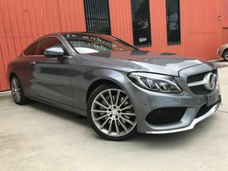 2016 Mercedes-Benz C-Class C205 C300 7G-Tronic + Grey 7 Speed Sports Automatic Coupe.