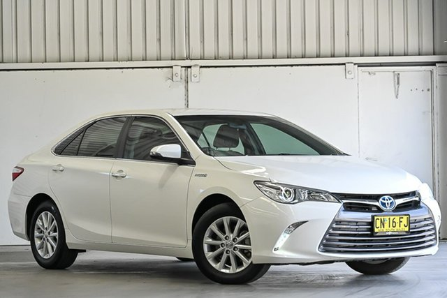 Used Toyota Camry AVV50R Altise Laverton North, 2017 Toyota Camry AVV50R Altise White 1 Speed Constant Variable Sedan Hybrid
