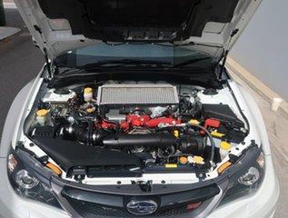 2012 Subaru Impreza G3 MY12 WRX STi AWD Spec R White 6 Speed Manual Sedan.