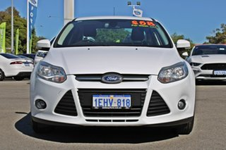 2013 Ford Focus LW MkII Trend PwrShift White 6 Speed Sports Automatic Dual Clutch Sedan.