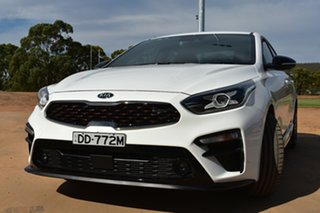 2019 Kia Cerato BD MY19 GT DCT White 7 Speed Sports Automatic Dual Clutch Sedan.