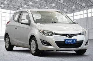 2013 Hyundai i20 PB MY14 Active Sleek Silver 6 Speed Manual Hatchback.
