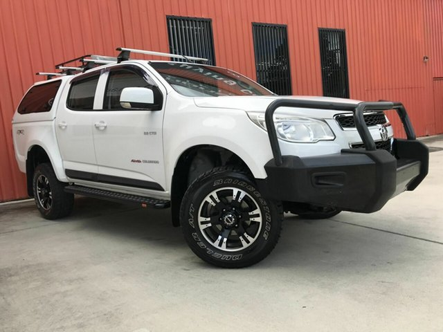 Used Holden Colorado RG MY13 LX Crew Cab Molendinar, 2013 Holden Colorado RG MY13 LX Crew Cab White 6 Speed Sports Automatic Utility