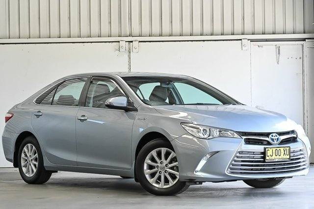 Used Toyota Camry AVV50R Altise Laverton North, 2016 Toyota Camry AVV50R Altise Ocean Mist 1 Speed Constant Variable Sedan Hybrid