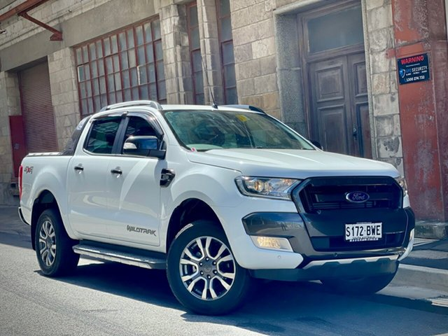Used Ford Ranger PX MkII 2018.00MY Wildtrak Double Cab Cheltenham, 2018 Ford Ranger PX MkII 2018.00MY Wildtrak Double Cab White 6 Speed Sports Automatic Utility