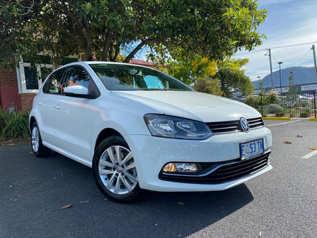 Used Volkswagen Polo 6R MY15 81TSI DSG Comfortline Glenorchy, 2015 Volkswagen Polo 6R MY15 81TSI DSG Comfortline White 7 Speed Sports Automatic Dual Clutch