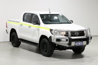 2017 Toyota Hilux GUN136R MY17 SR Hi-Rider White 6 Speed Automatic Dual Cab Utility